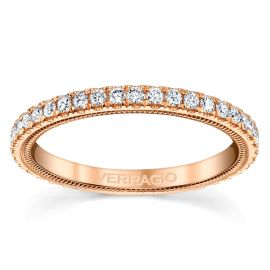 Verragio 14k Rose Gold Diamond Wedding Band 3/8 ct. tw.