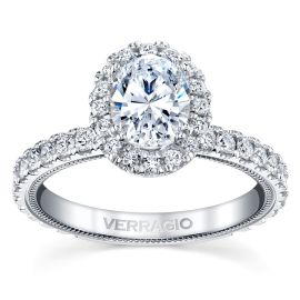 Verragio 14k White Gold Diamond Engagement Ring Setting 3/4 ct. tw.