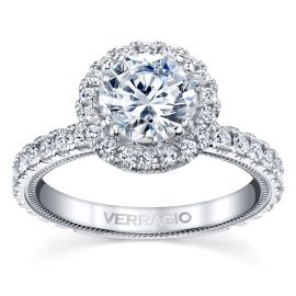 Verragio 14k White Gold Diamond Engagement Ring Setting 7/8 ct. tw.
