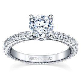 Verragio 14k White Gold Diamond Engagement Ring Setting 5/8 ct. tw.