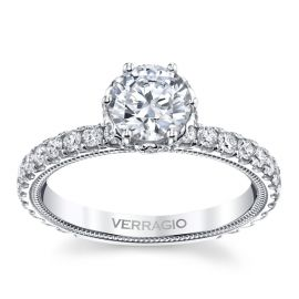 Verragio 14k White Gold Diamond Engagement Ring Setting 3/4 ct. tw.