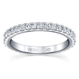 Verragio 14k White Gold Diamond Wedding Band 5/8 ct. tw.