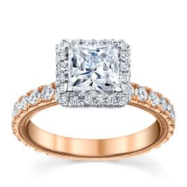 Verragio 14k Rose and 14k White Gold Diamond Engagement Ring Setting 1 ct. tw.