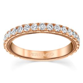 Verragio 14k Rose Gold Diamond Wedding Band 3/4 ct. tw.