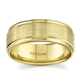 14k Yellow Gold 8 mm Wedding Band