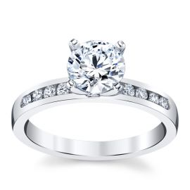 RB Signature 14k White Gold Diamond Engagement Ring Setting 1/5 ct. tw.