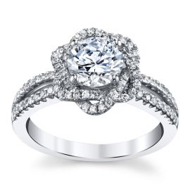 14k White Gold Diamond Engagement Ring Setting 1/4 ct. tw.