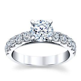 14k White Gold Diamond Engagement Ring Setting 3/4 ct. tw.