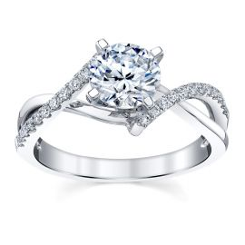 RB Signature 14k White Gold Diamond Engagement Ring Setting 1/7 ct. tw.