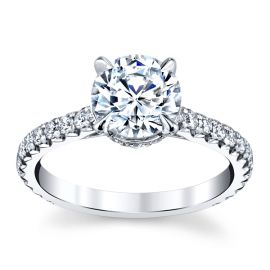 14k White Gold Diamond Engagement Ring Setting 3/8 ct. tw.