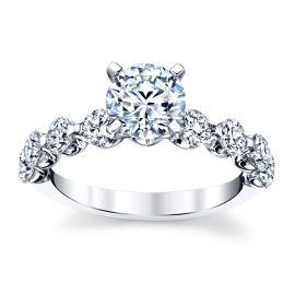 14k White Gold Diamond Engagement Ring Setting 1 ct. tw.