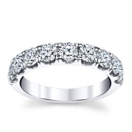 14k White Gold Diamond Wedding Band 1 1/2 ct. tw.