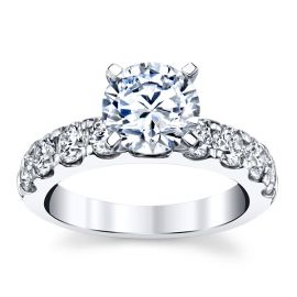 14k White Gold Diamond Engagement Ring Setting 1 1/4 ct. tw.