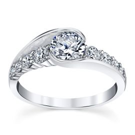 14k White Gold Diamond Engagement Ring Setting 1/2 ct. tw.
