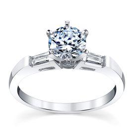 14k White Gold Diamond Engagement Ring Setting 1/5 ct. tw.