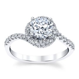 14k White Gold Diamond Engagement Ring Setting 1/3 ct. tw.