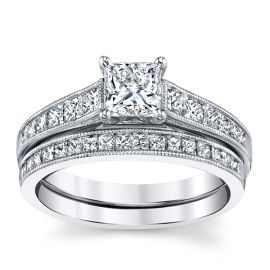 Utwo 14k White Gold Diamond Wedding Set 1 1/2 ct. tw.