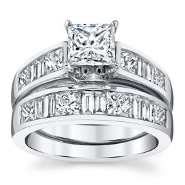 Utwo 14k White Gold Diamond Wedding Set 2 3/4 ct. tw.