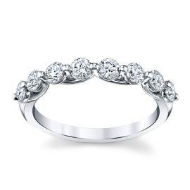 14k White Gold Diamond Wedding Band 3/4 ct. tw.