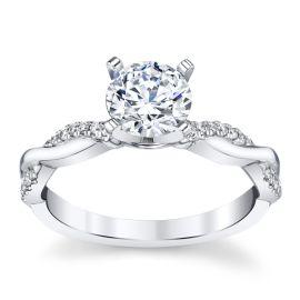 14k White Gold Diamond Engagement Ring Setting .07 ct. tw.