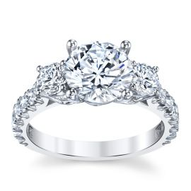 RB Signature 18k White Gold Diamond Engagement Ring Setting 1 ct. tw.