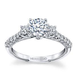 Verragio 14k White Gold Diamond Engagement Ring Setting 3/8 ct. tw.