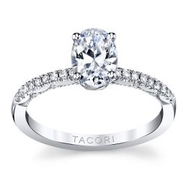 Tacori 14k White Gold Diamond Engagement Ring Setting 1/6 ct. tw.
