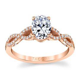Tacori 14k Rose Gold Diamond Engagement Ring Setting 1/4 ct. tw.