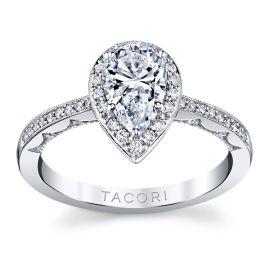 Tacori 14k White Gold Diamond Engagement Ring Setting 1/4 ct. tw.