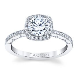 Tacori 14k White Gold Diamond Engagement Ring Setting 1/4 ct. tw.