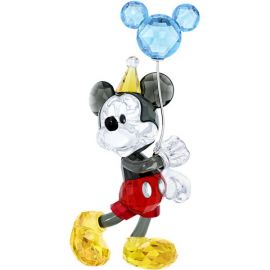 Swarovski Colored Crystal Mickey Mouse Celebration Figurine