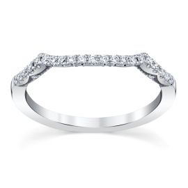 Tacori 14k White Gold Diamond Wedding Band 1/6 ct. tw.