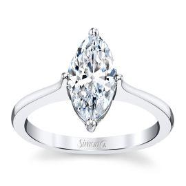 Simon G. 18k White Gold Engagement Ring Setting ct. tw.