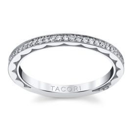 Tacori 18k White Gold Diamond Wedding Band 1/4 ct. tw.