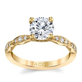 Tacori 18k Yellow Gold Diamond Engagement Ring Setting 1/7 ct. tw.