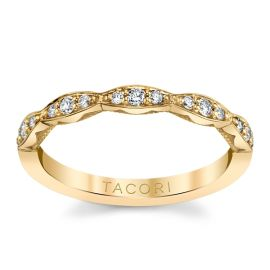 Tacori 18k Yellow Gold Diamond Wedding Band 1/6 ct. tw.