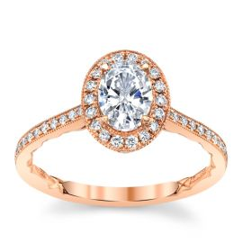 A. Jaffe 14k Rose Gold Diamond Engagement Ring Setting 1/3 ct. tw.