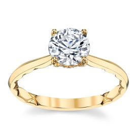 A. Jaffe 14k Yellow Gold Diamond Engagement Ring Setting .05 ct. tw.