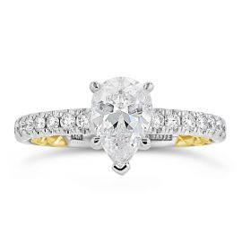 A. Jaffe 14k White Gold and 14k Yellow Gold Diamond Engagement Ring Setting 1/2 ct. tw.