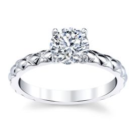 A. Jaffe 14k White Gold Diamond Engagement Ring Setting .05 ct. tw.