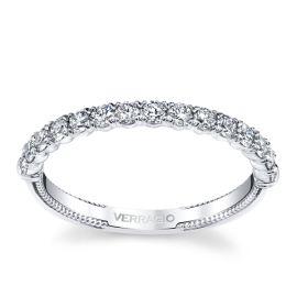 Verragio 14k White Gold Diamond Wedding Band 1/2 ct. tw.