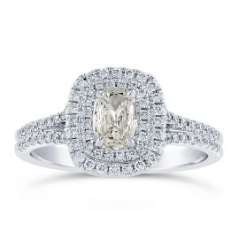 Henri Daussi 18k White Gold Diamond Engagement Ring 3/4 ct. tw.