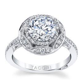 Platinum Diamond Engagement Ring Setting 1/2 ct. tw.