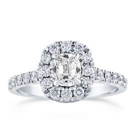 Henri Daussi 18k White Gold Diamond Engagement Ring 1 1/2 ct. tw.