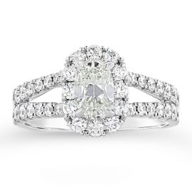 Henri Daussi 18k White Gold Diamond Engagement Ring 1 7/8 ct. tw.