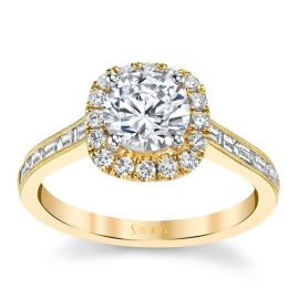 Simon G. 18k Yellow Gold Diamond Engagement Ring Setting 1/2 ct. tw.