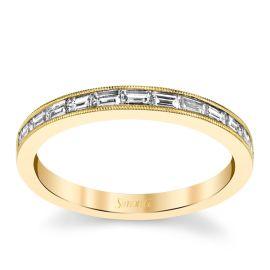 Simon G. 18k Yellow Gold Diamond Wedding Band 1/3 ct. tw.