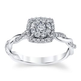 Cherish 14k White Gold Diamond Engagement Ring 3/8 ct. tw.