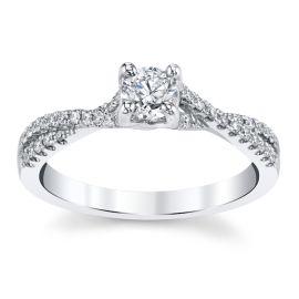 Cherish 14k White Gold Diamond Engagement Ring 1/2 ct. tw.