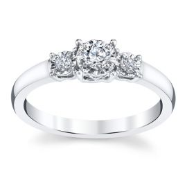 Cherish 14k White Gold Diamond Engagement Ring 1/5 ct. tw.